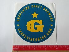 Beer STICKER ~ GRAPEVINE Craft Brewery ~ Grapevine, TEXAS  ** See More in STORE