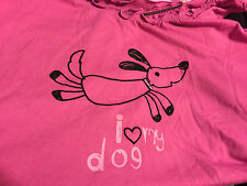 NEW Dachshund Dog Pajama Sleep Short Set XL 16 18 Doxie Wiener Pink Purple