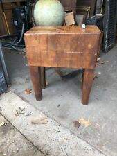 Rate size Vintage Butcher Block Table maple 29�'h x 24� x 12� Great patina