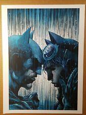 Batman 50 Catwoman in the rain DC Comics Poster by Jim Lee