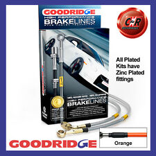 Smart 4-2 03 on Goodridge Zinc Plated Orange Brake Hoses SSM0100-4P-OR