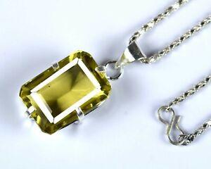 Brazilian 61.90 Ct Certified Lemon Topaz Men's Pendant Ideal Engagement Gift