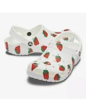 CROCS Vacay Vibes White Clog Strawberry RARE Women's Size 8 NWT