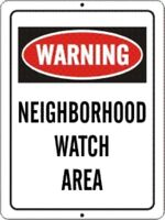 2 PACK OF NEIGHBORHOOD CRIME WATCH PROTECTED AREA WARNING SIGN 9X12 METAL NEW #1