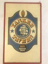 Yankee Tavern Menu - Vintage Restaurant Menu - Maritime Newport Beach