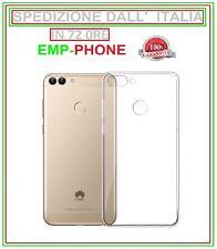 Cover Custodia Per Huawei P Smart Trasparente Slim + Pellicola Vetro Temperato