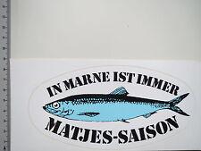Aufkleber Sticker Marne Matjes Fisch Decal (S1187)