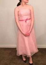 Davids Bridal Bridesmaid Prom Formal Party Dress Gown Light Pink Size 2