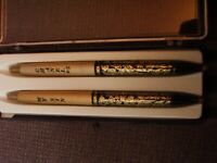 Vintage MY SIN & CHANEL #5 Pen set- 14 K Gold Filigree