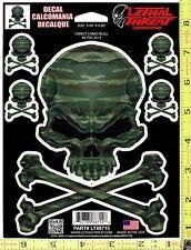 Forest Camo Skull Vinyl Decal Side or Rear Window Sticker Auto Truck 88715