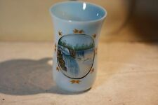 Victorian Era Antique Bristol Glass Hand Painted Niagara Falls MUG Cup RARE