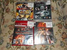 Tekken 6, Mortal Kombat, Street Fighter 4, Injustice PS3