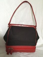 Vintage PRADA  Leather/Canvas Shoulder Bag / Handbag