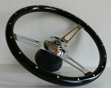 Steering Wheel Mercedes Benz Wood Black W123 W124 W126 W201 R107 W116 1979-1992
