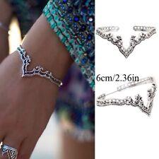 Ethnique Bohemina Fleur Creuse Bijou  Bracelet Ouvert Bracelet De Manchette