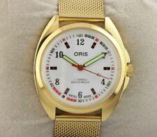 Vintage Oris Golden excellent white men Swiss working wrist watch 36mm
