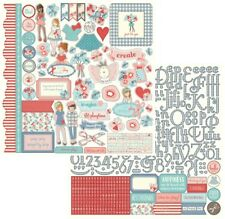 PhotoPlay Paper PAPER DOLLS Julie Nutting 12x12 Element + Alpha Stickers Combo