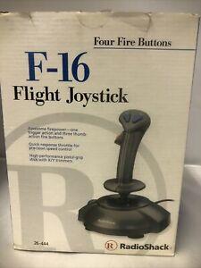 Radio shack F-16 Flight Joystick Gaming Controller 26-444 PC Computer Video Game