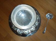 Friedman Silver-Plate Punch Bowl Set 11 Pcs