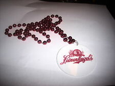 Leinenkugels pendent two sided beads chain necklace Mardi Gra