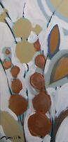 JOSE TRUJILLO ORIGINAL EXPRESSIONISM ACRYLIC PAINTING ABSTRACT FLORAL SIGNED COA