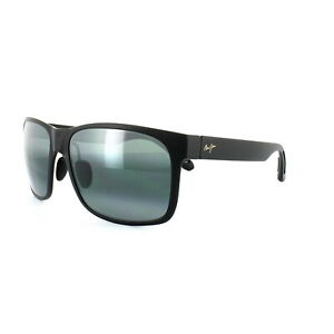 Maui Jim Sunglasses Red Sands 432-2M Matt Black Neutral Grey Polarized