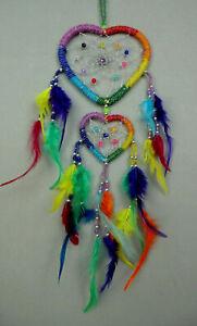 Dreamcatcher Traumfänger Rainbow Chakra Liebe Love Herz Heart Hochzeit Geschenk