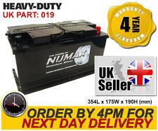 Numax Car Battery 12V 95Ah 019 - Iveco Jaguar Jeep Land Rover Mercedes etc