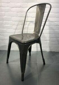 Orginal Tolix Chaise A Steel Chair - Genuine Tolix