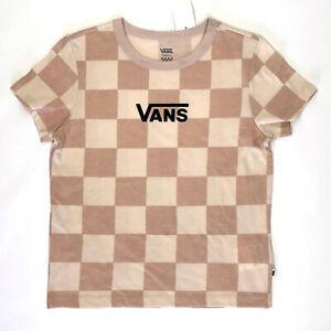 Vans Amplified Short Sleeve Crop Boxy T-Shirt Pink Womens SZ S (VN0A53PWZG2) NWT