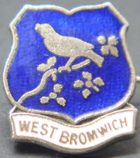WEST BROMWICH ALBION Vintage club crest badge Brooch pin In chrome 15mm x 18mm