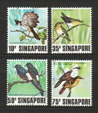 SINGAPORE 1978 SONGBIRDS COMP. SET OF 4 STAMPS SC#295-298 IN FINE USED CONDITION