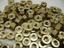 100 x 8BA BRASS HEXAGONAL FULL NUTS .  BRASS BA HEX NUTS   8 BA MODEL ENGINEER