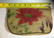 Ecotools by Alicia Silverstone red flower Cosmetics Bag NEW.