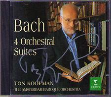 Ton KOOPMAN Signiert BACH 4 Orchestral Suites ERATO CD Amsterdam Baroque