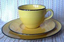 Rayware YELLOW CUP, SAUCER & SIDE PLATE Trio, retro, vintage, mid century
