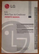 Instructions Manuel du propriétaire Quick Guide de l'utilisateur pour LG Multi Type climatiseur