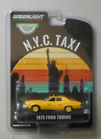 1975 Ford Torino New York City Taxi Yellow HOBBY GREENLIGHT DIECAST 1:64