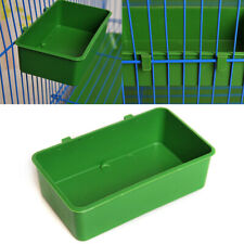 Parrot Food Water Bowl Cup Plastic Bird Pigeons Pet Cage Feeder Feeding Box Usa.