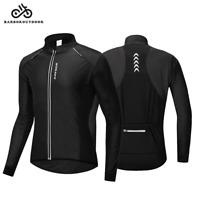 Cycling Jacket Thermal Fleece Jersey Windproof Long Sleeve Coat Winter Clothing