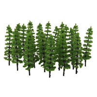 20pcs Landscape Scenery Pine Trees Model Train Wargame Diorama Layout OO HO