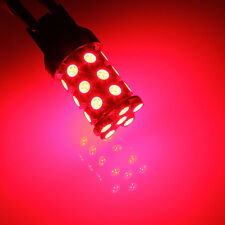 2x T20 7443 4057 5050 SMD 27 LED Red Car Auto Brake Tail Stop Light Bulb Lamp