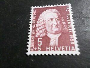 Switzerland Schweiz, 1958, Stamp 616, A.Von Haller, New, VF MNH Stamp, Swiss