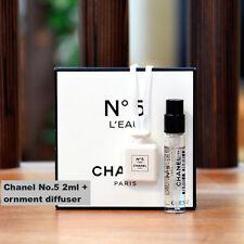 NEW CHANEL No.5 L'EAU EDT 2ml + Diffuser Ornament VIP Gift RARE NIB Collectible