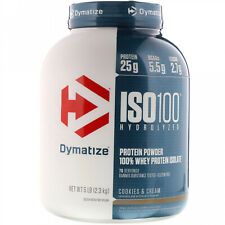 Dymatize Nutrition, ISO100 Hydrolyzed, 100% Whey Protein Isolate, Cookies And 5