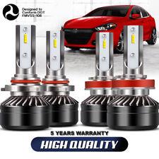 4x Combo H11 9005 HB3 LED Headlight Bulb 6000K 120W 24000LM High Low Beam DWR