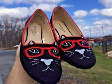 MADELINE STUART Mary Janes Ballet Flats KITTY CAT Loafers Womens Shoes Sz 6.5