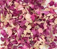 Natural Dried Biodegradable Wedding Confetti 1L Pink Rose Petals Pink Delphinium