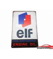 Plaque métal ELF dimensions 20x30cm