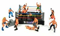 WWE Raw Smack Down Wrestling Ring Playset With 12 Figure Kids Action Ring Toy